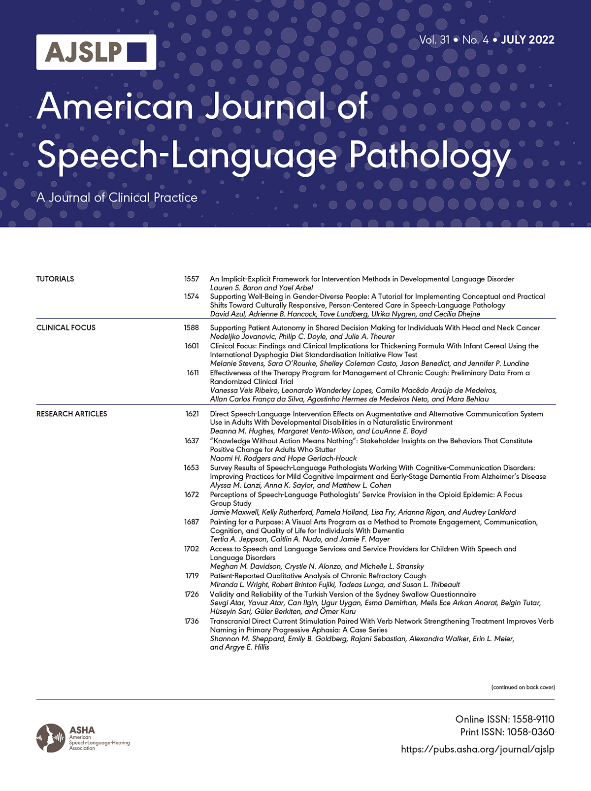 Speech Fluency in Acquired Apraxia of Speech During Narrative